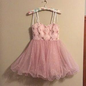 Strapless Blush Pink Event Dress